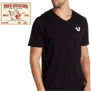True Religion V-Neck T-Shirt - Large